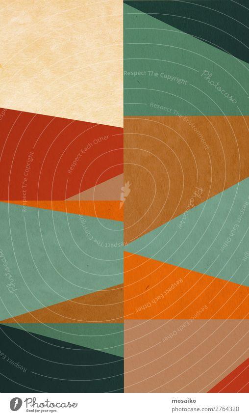 bunte geometrische Formen - Mustermischung Lifestyle elegant Stil Design Freude Wellness Leben Wohlgefühl Dekoration & Verzierung Tapete Studium lernen
