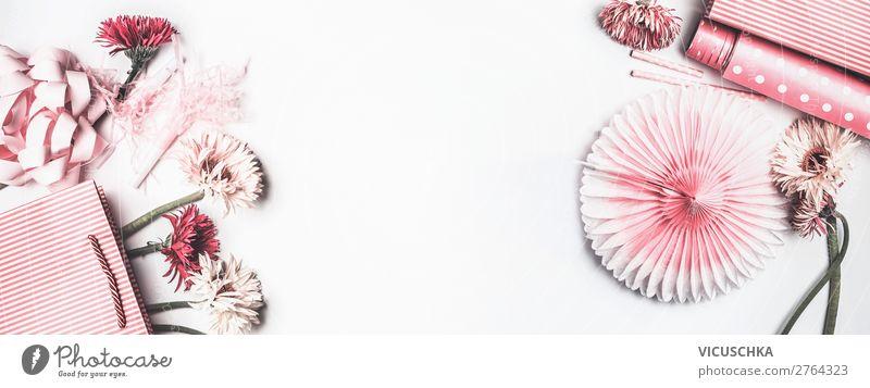 Rosa Geschenk Zubehör kaufen Design Freude Feste & Feiern Valentinstag Muttertag Hochzeit Geburtstag feminin Blume Verpackung Dekoration & Verzierung