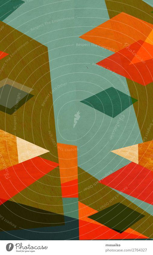 farbenfrohe geometrische Formen - Grafikdesign Lifestyle elegant Stil Design Leben harmonisch Freizeit & Hobby Dekoration & Verzierung Tapete Feste & Feiern