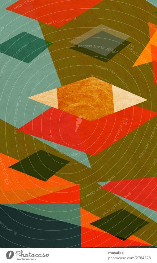 farbenfrohe geometrische Formen - Grafikdesign elegant Stil Design Freude Leben harmonisch Dekoration & Verzierung Tapete Bildung Kindergarten Handwerk Kunst