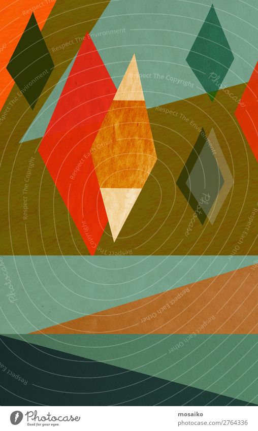 farbenfrohe geometrische Formen - Grafikdesign elegant Stil Design Freude Leben harmonisch Dekoration & Verzierung Tapete Entertainment Party Veranstaltung