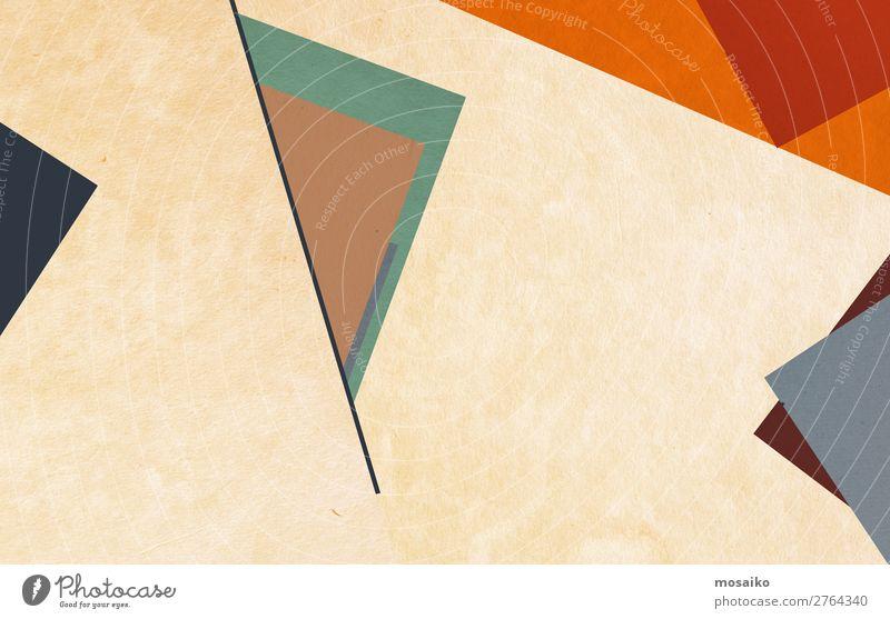 farbenfrohe geometrische Formen - Grafikdesign Stil Design Dekoration & Verzierung Tapete Entertainment Bildung Kindergarten Schule Handwerk Papier retro blau