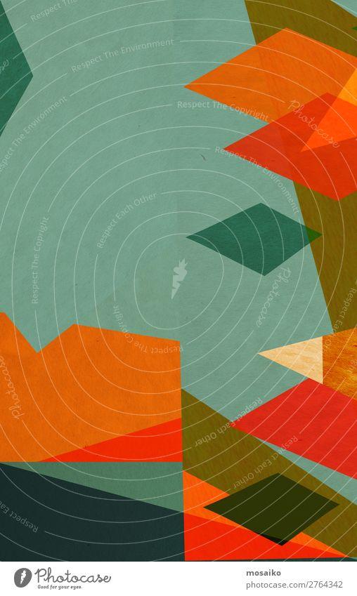 farbenfrohe geometrische Formen - Papierstruktur - Grafikdesign Lifestyle elegant Stil Design Freude Basteln Dekoration & Verzierung Tapete Entertainment Party