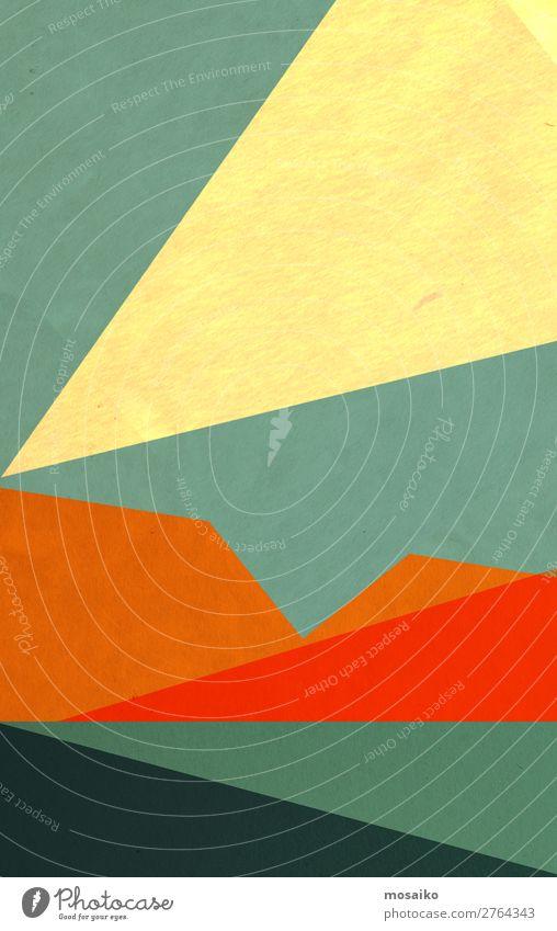 farbenfrohe geometrische Formen - Papierstruktur - Grafikdesign Lifestyle elegant Stil Design Freude Leben harmonisch Wohlgefühl Sinnesorgane Freizeit & Hobby