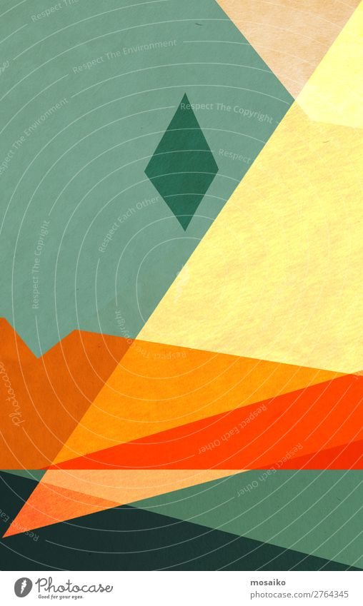 farbenfrohe geometrische Formen - Papierstruktur - Grafikdesign Lifestyle elegant Stil Design Freude Wellness Leben harmonisch Wohlgefühl Meditation