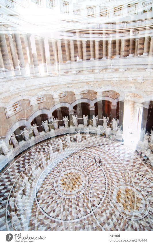 Viele, und doppelt Bauwerk Gebäude Architektur Befreiungshalle Halle Säulenhalle Statue Figur Engel Bodenbelag Sehenswürdigkeit Denkmal Marmor festhalten