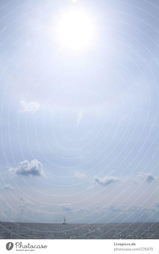 ...ein bißchen Sommer. Ferien & Urlaub & Reisen Sommerurlaub Sonne Strand Meer Natur Landschaft Wasser Himmel Wolken Sonnenlicht Schönes Wetter Wärme Wellen
