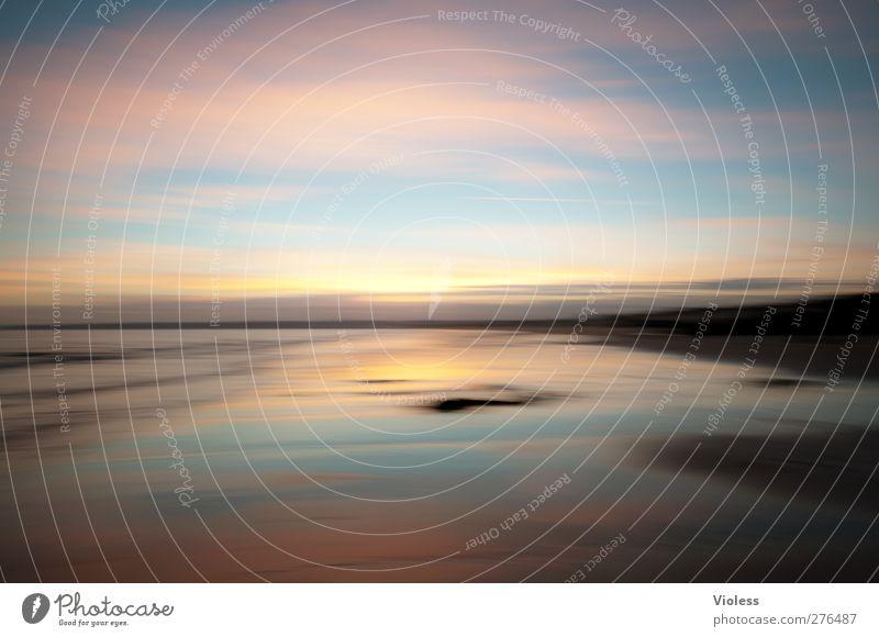 ...in my dream Landschaft Sand Luft Wasser Himmel Wolken Sonnenaufgang Sonnenuntergang Sommer Schönes Wetter Küste Strand Meer Erholung träumen außergewöhnlich