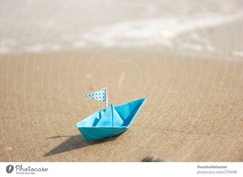 Robinsons 58. Fluchtversuch Natur blau Ferien & Urlaub & Reisen Sommer Sonne Meer Strand Erholung Ferne Spielen Freiheit Glück hell Wasserfahrzeug Tourismus