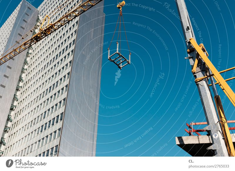 schaustelle baustelle Arbeit & Erwerbstätigkeit Beruf Arbeitsplatz Baustelle Wirtschaft Industrie Mittelstand Unternehmen Wolkenloser Himmel Schönes Wetter