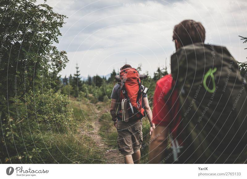 Wandertag 12Tausender 2 Mensch Ferien & Urlaub & Reisen Natur Mann Sommer Pflanze Landschaft Baum Wald Ferne Berge u. Gebirge Erwachsene Herbst Frühling