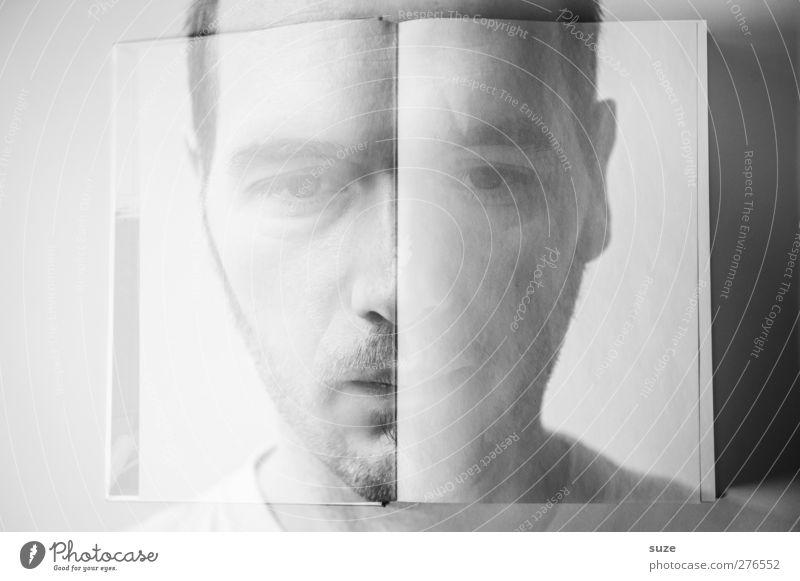 *2.000* Generation Facebook lesen Mensch maskulin Mann Erwachsene Leben Gesicht 1 18-30 Jahre Jugendliche Kunst Gemälde Buch Denken Traurigkeit außergewöhnlich