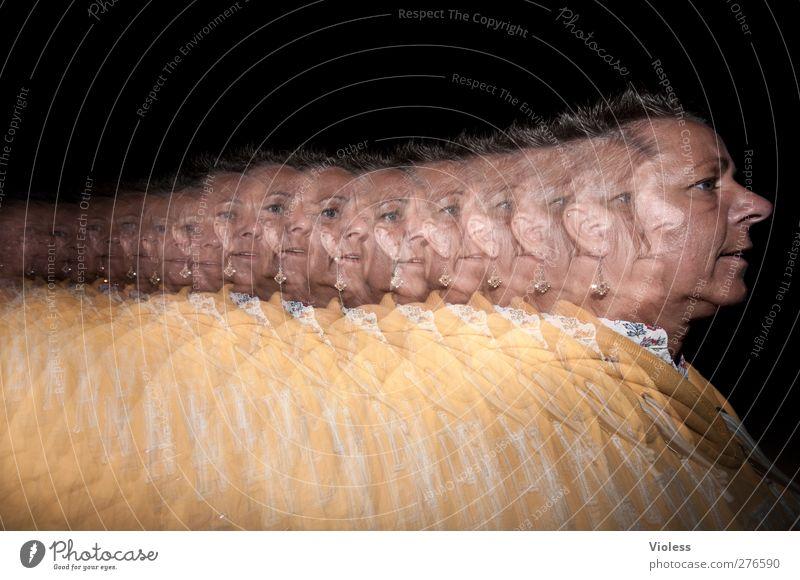 ....tinochio Mensch Erwachsene Gesicht feminin Bewegung Haare & Frisuren Kopf laufen Nase 45-60 Jahre rennen Stress Nervosität blitzen