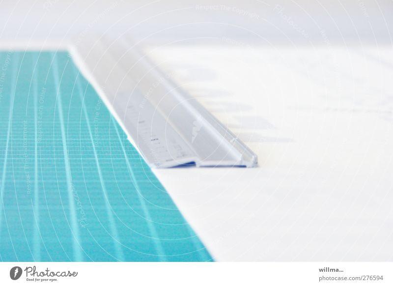 rastalook weiß grau hell Linie Ordnung türkis Werbebranche messen Raster Messinstrument Präzision Skala penibel Lineal