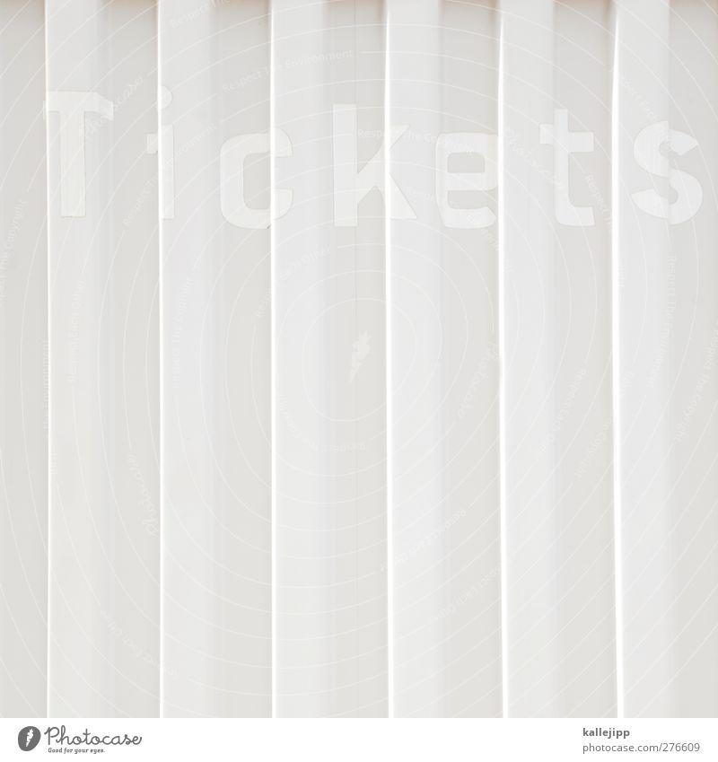 freikarten Lifestyle Design Freizeit & Hobby weiß Eintrittskarte Eingang Museum Veranstaltung Theater Kartenhaus Kultur Konzert Kunst Musik kinokasse Licht