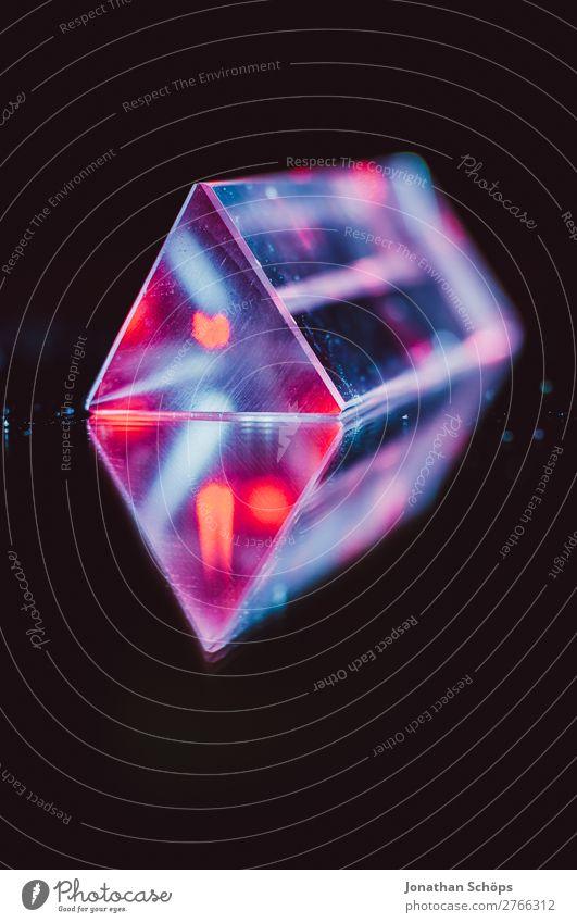Prisma Laser Party künstliche Intelligenz Retro Neon Wissenschaften Computer Informationstechnologie retro blau rot schwarz Weltall Außerirdischer Dreieck