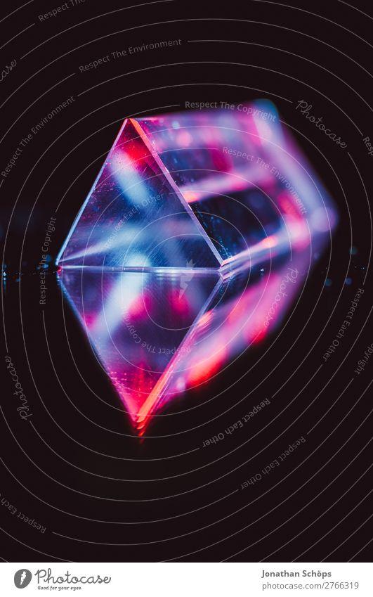 Prisma Laser Sci-fi Hintergrund Wissenschaften Computer Informationstechnologie retro blau rot schwarz Weltall Außerirdischer Dreieck Hintergrundbild