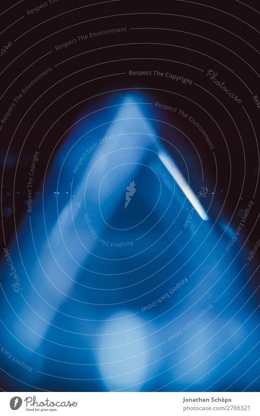 Prisma Laser Kristall Sciencefiction Hintergrund blau Hintergrundbild retro leuchten Glas Zukunft Futurismus Informationstechnologie Wissenschaften Physik