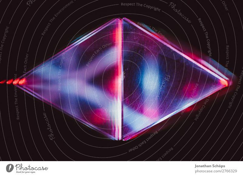 Prisma Laser Sci-fi Hintergrund blau rot schwarz Hintergrundbild retro leuchten Technik & Technologie Glas Zukunft Weltall Urelemente Futurismus