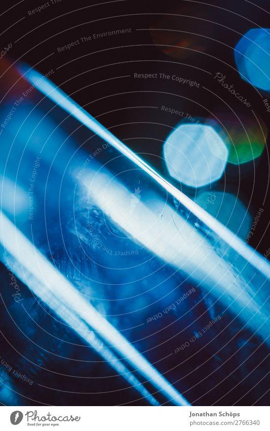 Prisma Laser Sci-fi Hintergrund blau Hintergrundbild leuchten Technik & Technologie Glas Zukunft Neigung Weltall Urelemente Futurismus Informationstechnologie
