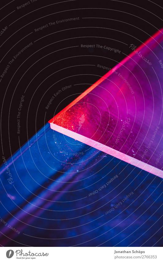 Prisma Laser Sci-fi Hintergrund blau rot schwarz Hintergrundbild retro leuchten Technik & Technologie Glas Zukunft Weltall Futurismus graphisch Teile u. Stücke