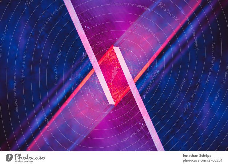 Prisma Laser Sci-fi Hintergrund blau rot schwarz Hintergrundbild retro leuchten Technik & Technologie Glas Zukunft Neigung Weltall Futurismus graphisch