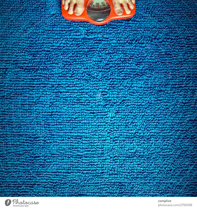 Diät, Waage & Gewicht Frau Gesunde Ernährung Mann Weihnachten & Advent nackt blau Gesundheit Essen Erwachsene Leben Gesundheitswesen Feste & Feiern orange