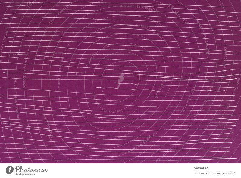 Linien auf Papier Lifestyle Stil Design Internet Mode außergewöhnlich retro violett weiß ästhetisch chaotisch Genauigkeit Idee Identität Inspiration komplex