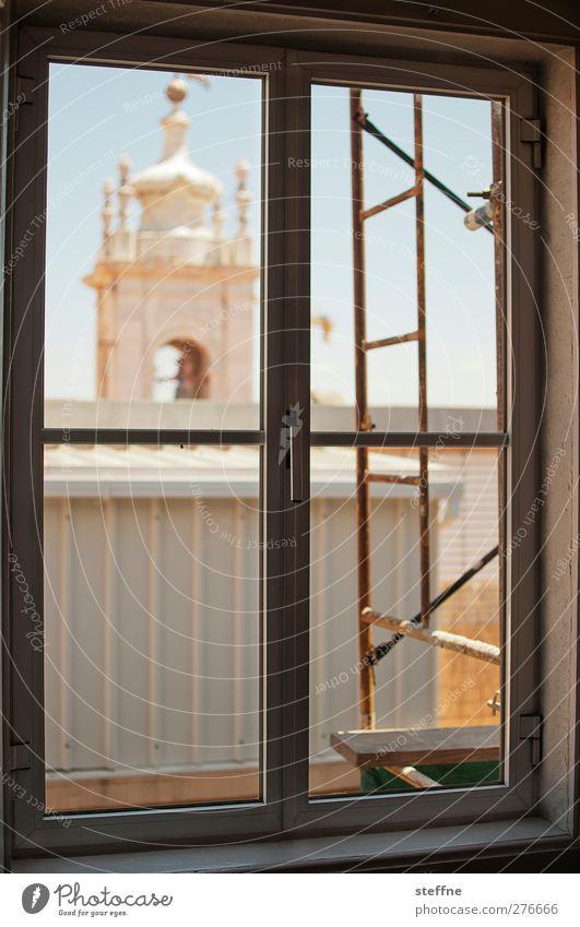 fensterplatz Stadt Sommer Fenster Kirche Baugerüst Lissabon