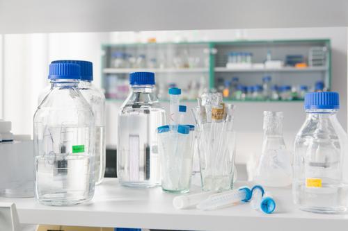 Laborglasflaschen Flasche Container Glas Medikament Hintergrundbild blanko Kanister Mütze Sauberkeit Nahaufnahme Rauschmittel ausleeren Gesundheit Deckel
