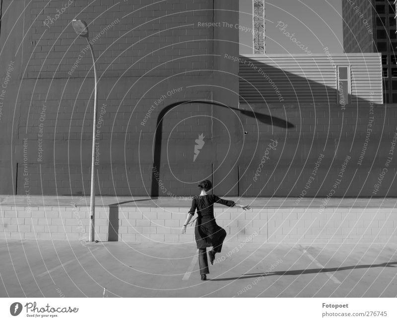 Verbeugung Freude Architektur träumen Tanzen Ordnung frei einzigartig Laterne drehen frech Respekt Tänzer Überwachung Schattenspiel Laternenpfahl