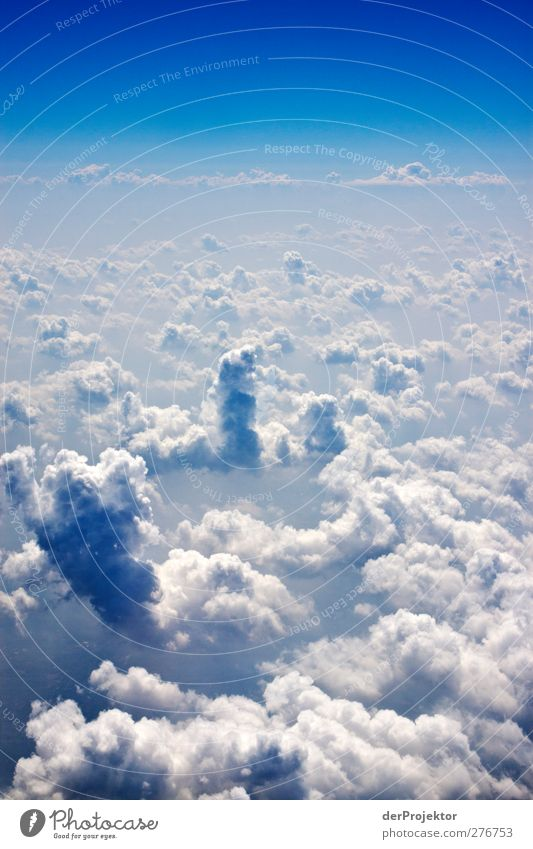 Heiter bis wolkig Umwelt Urelemente Luft Himmel Wolken Frühling Schönes Wetter Luftverkehr Flugzeug Passagierflugzeug ästhetisch außergewöhnlich gigantisch groß