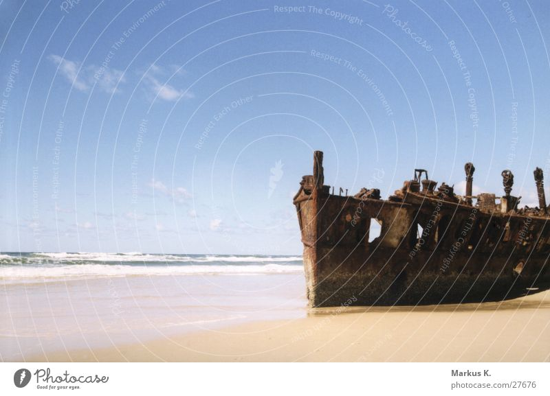 maheno Strand Meer Verfall Vergänglichkeit Australien Schiffswrack Fraiser Island