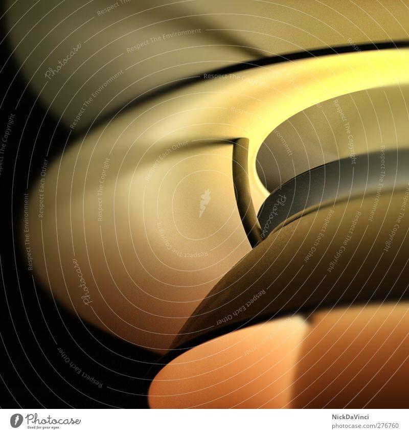 Decken-UFO ruhig schwarz gelb Wand Wärme Mauer Stil Innenarchitektur Lampe hell orange Raum Wohnung glänzend elegant Energiewirtschaft