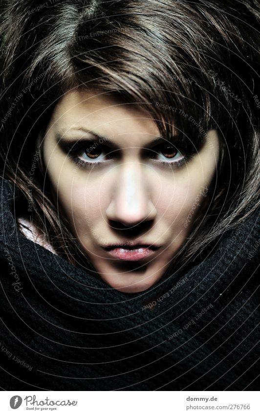 dont ask me 2 Mensch Frau Jugendliche Erwachsene Gesicht Auge feminin Gefühle Junge Frau Haare & Frisuren Kopf Stimmung braun 18-30 Jahre Haut Mund