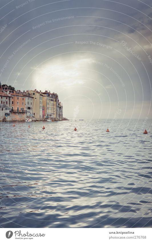 himmel über rovinj Umwelt Landschaft Wasser Himmel Wolken Horizont Sonne Sonnenlicht Wetter Meer Adria Mittelmeer Halbinsel Rovinj Kroatien Istrien Stadt