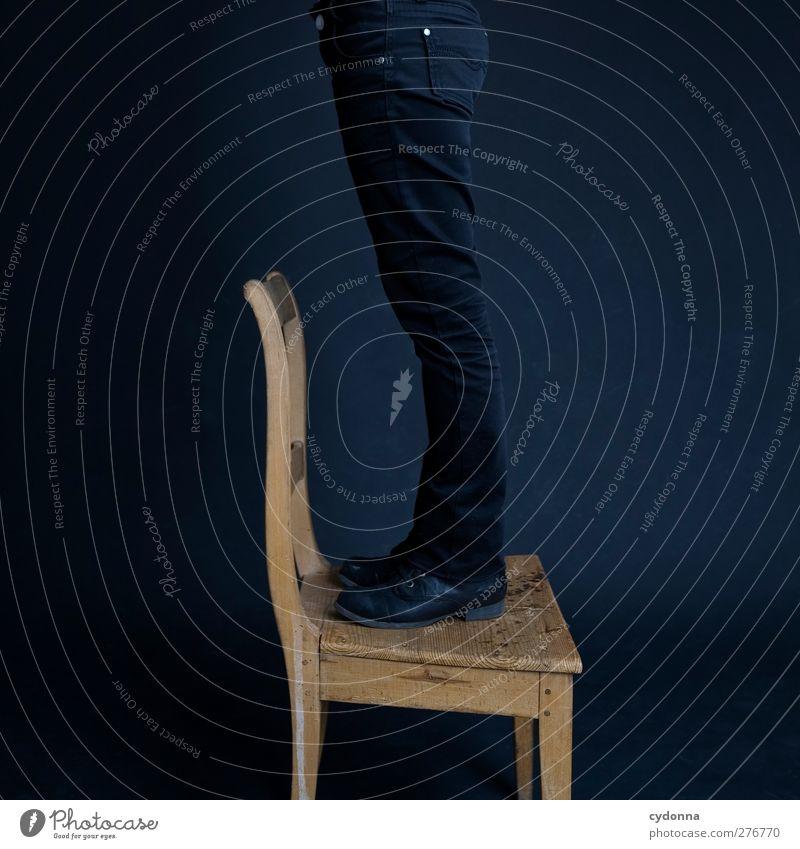 die Luft da oben Mensch Jugendliche Erwachsene Beine Raum 18-30 Jahre hoch Erfolg Wachstum stehen Dekoration & Verzierung lernen Lifestyle Hilfsbereitschaft