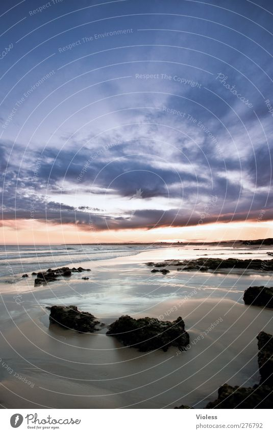 ...wide beauty Natur Erde Sand Wasser Himmel Wolken Sonnenaufgang Sonnenuntergang Sommer Schönes Wetter Wellen Küste Strand Meer Erholung genießen