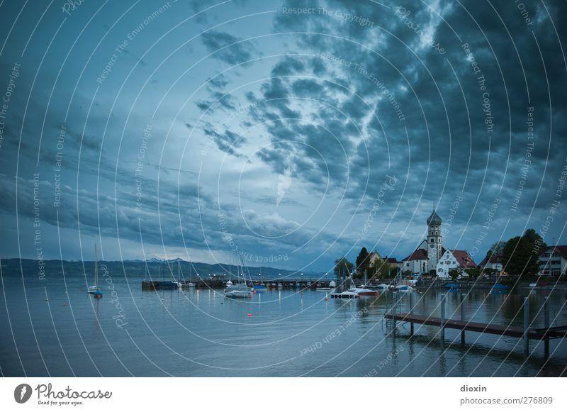 Watercastle Ferien & Urlaub & Reisen Ausflug Umwelt Natur Landschaft Wasser Himmel Wolken Nachthimmel See Bodensee Wasserburg Dorf Fischerdorf Kleinstadt