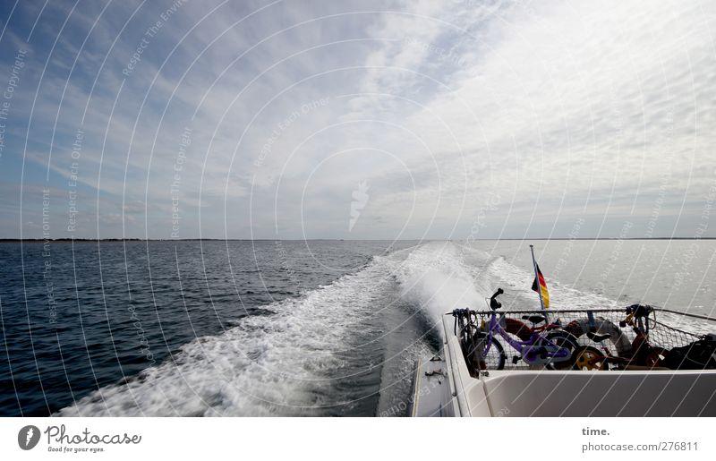 Hiddensee | Ab ins lange Wochenende Umwelt Urelemente Luft Wasser Himmel Wolken Horizont Frühling Schönes Wetter Wellen Ostsee Verkehr Verkehrsmittel