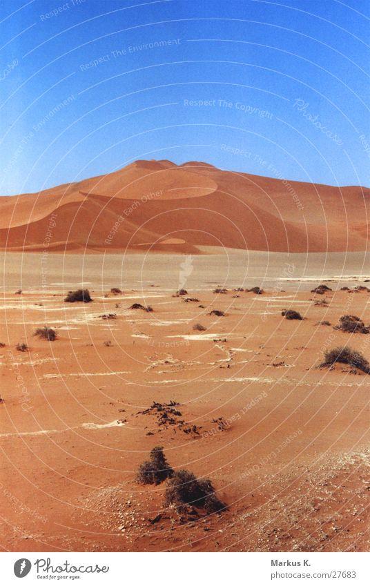 Sossusvlei rot ruhig Einsamkeit Wärme Sand Wüste München Physik heiß trocken Stranddüne Durst Namibia karg