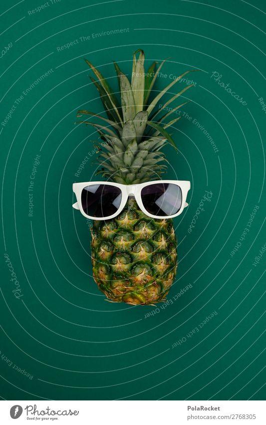 #A# STAY CALM Kunst Kunstwerk ästhetisch grün Ananas Ananasplantage Ananasblätter Sonnenbrille Coolness Jugendkultur verrückt Plantage Comic Freude Spaßvogel
