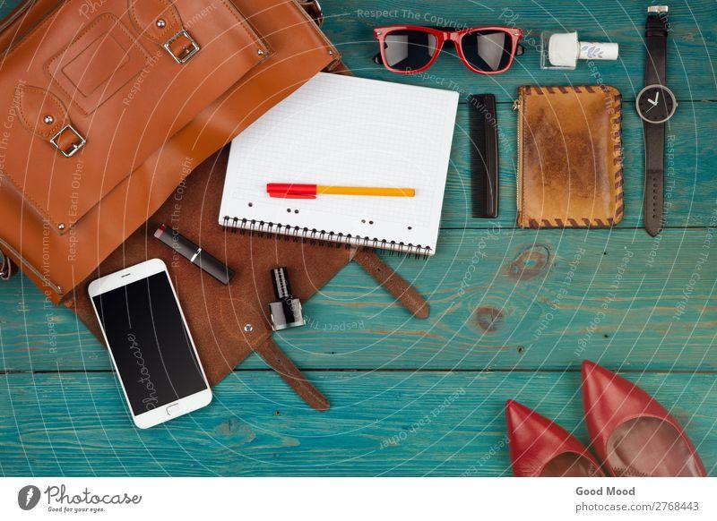 Damen-Set mit Tasche, Telefon, Notizblock, Geldbörse, Uhr kaufen Stil Kosmetik Ferien & Urlaub & Reisen Ausflug Business PDA Frau Erwachsene Mode Leder