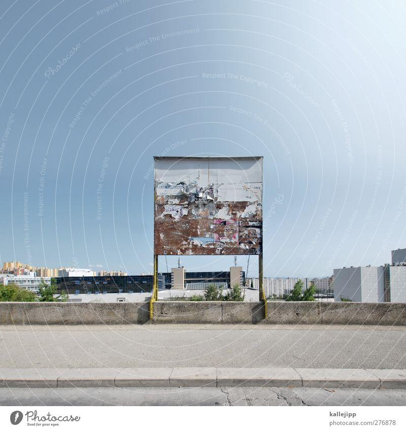 split screen Handel Werbebranche Unternehmen Stadt Hochhaus Bankgebäude Bauwerk Gebäude Architektur Straße Wege & Pfade Werbung Plakat Medien Plakatwand