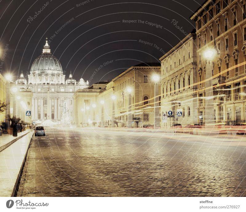 Vatileaks Straße Religion & Glaube Kirche Italien Stadtzentrum Wahrzeichen Sehenswürdigkeit Dom Hauptstadt Rom Anmut Nachtaufnahme Vatikan Petersdom