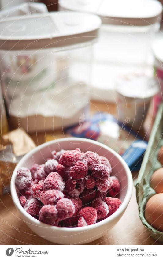 man nehme... Lebensmittel Frucht Teigwaren Backwaren Himbeeren Mehl Ei Zutaten Ernährung Schalen & Schüsseln Häusliches Leben Küche lecker natürlich