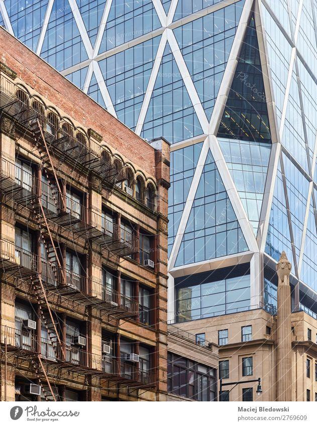New York City diverse Architekturen, USA. Häusliches Leben Wohnung Haus Büro Stadt Stadtzentrum Hochhaus Gebäude Fassade alt modern Zeit New York State