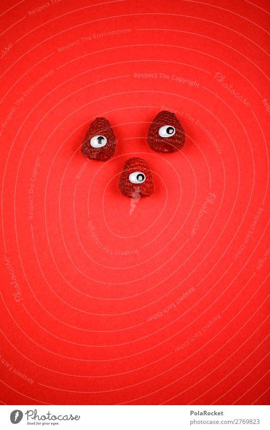 #A# Die Drei Aus Dem Wald Kunst Kunstwerk ästhetisch Ernährung Himbeeren Himbeereis Auge 3 Gesunde Ernährung lecker Vegetarische Ernährung Comic