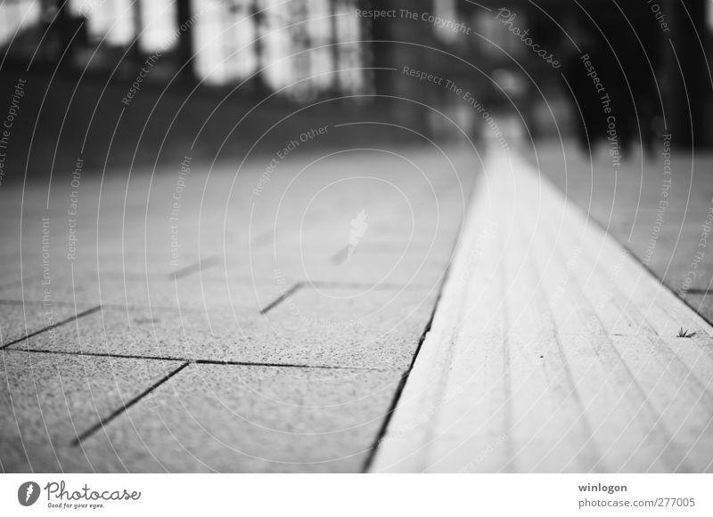 der weg Stadt weiß Ferne schwarz Straße Architektur Wege & Pfade Bewegung Stil Deutschland Linie gehen Arbeit & Erwerbstätigkeit Verkehr elegant Perspektive