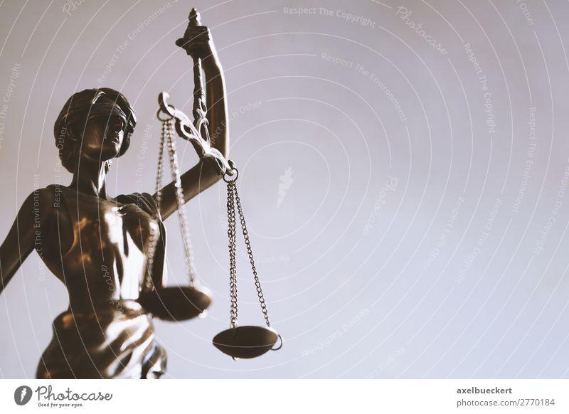 Justitia mit Texfreiraum Studium Business Skulptur Zeichen Gerechtigkeit lady justice Symbole & Metaphern Statue Bronze blind Gleichgewicht Legislative